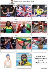 Gold Medallists Tokyo 2020 - Mini Picture Quiz Z3673