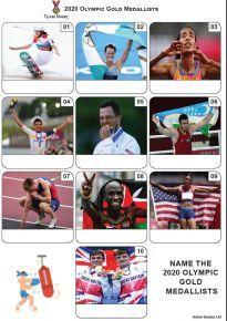 Gold Medallists Tokyo 2020 - Mini Picture Quiz Z3674