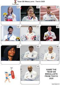 Team GB Medallists Tokyo 2020 - Mini Picture Quiz Z3675