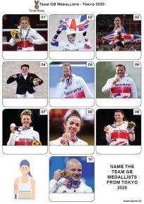 Team GB Medallists Tokyo 2020 - Mini Picture Quiz Z3676