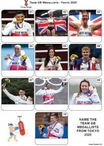 Team GB Medallists Tokyo 2020 - Mini Picture Quiz Z3677