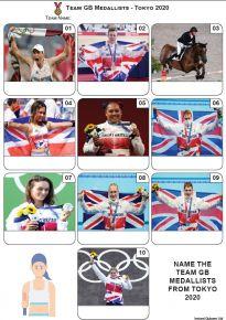 Team GB Medallists Tokyo 2020 - Mini Picture Quiz Z3678