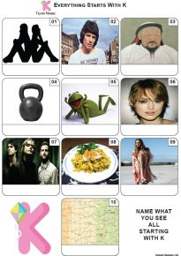 Everything Starts With 'K' - Mini PIcture Quiz Z3681
