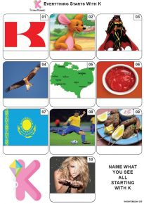Everything Starts With 'K' - Mini PIcture Quiz Z3682