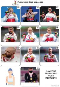 Paralympic Gold Medallists Tokyo 2020 - Mini Picture Quiz Z3696