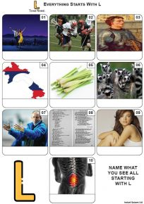 Everything Starts With 'L' - Mini PIcture Quiz Z3697