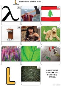 Everything Starts With 'L' - Mini PIcture Quiz Z3699